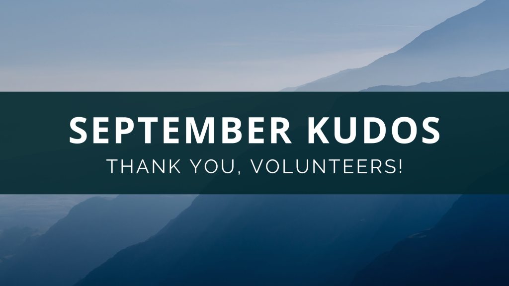 September Volunteers Banner